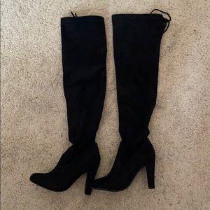 Steve Madden knee high heeled boots